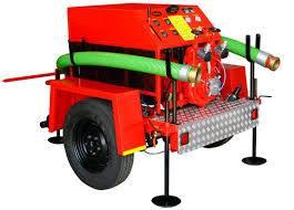 FabianiSRL - bomba portatil  con trailer transportable para incendios forestales   - diesel 60 y 80 hp