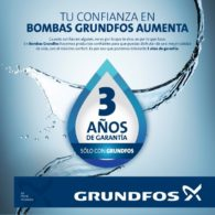 GRUNDFOS 3 años de garantia